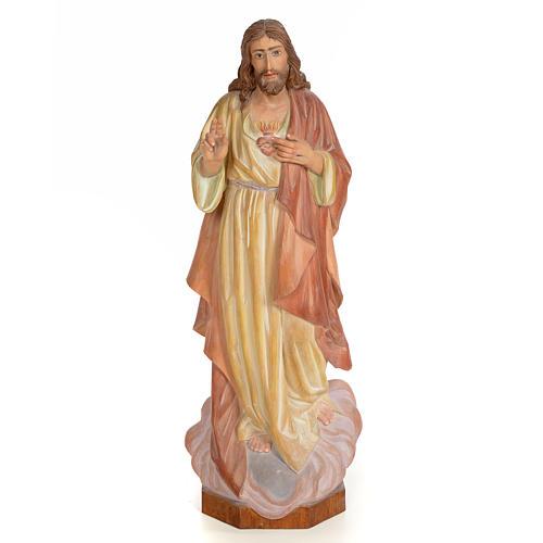 Sagrado Corazón de Jesús 60cm madera pintada 1