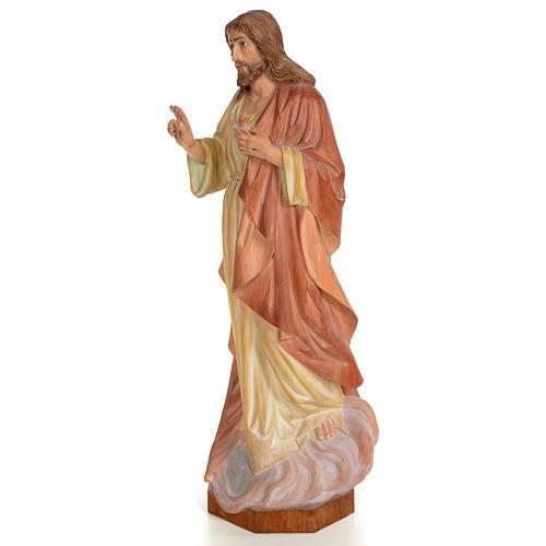 Sagrado Corazón de Jesús 60cm madera pintada 2