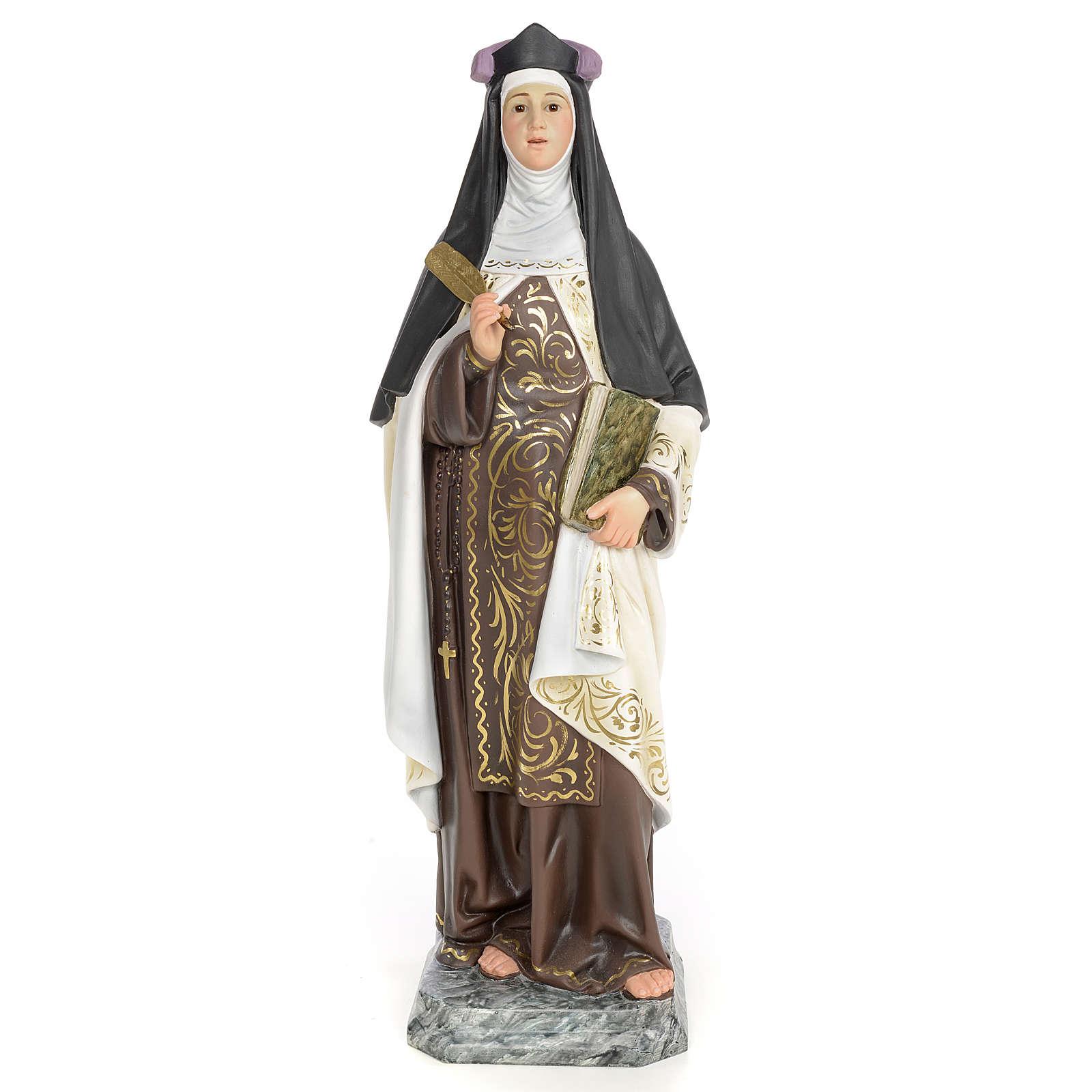 Santa Teresa di Gesù 60 cm pasta di legno dec. elegante 4