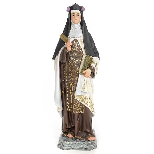 Santa Teresa di Gesù 60 cm pasta di legno dec. elegante 1