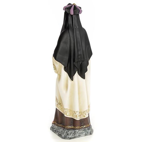 Santa Teresa di Gesù 60 cm pasta di legno dec. elegante 3