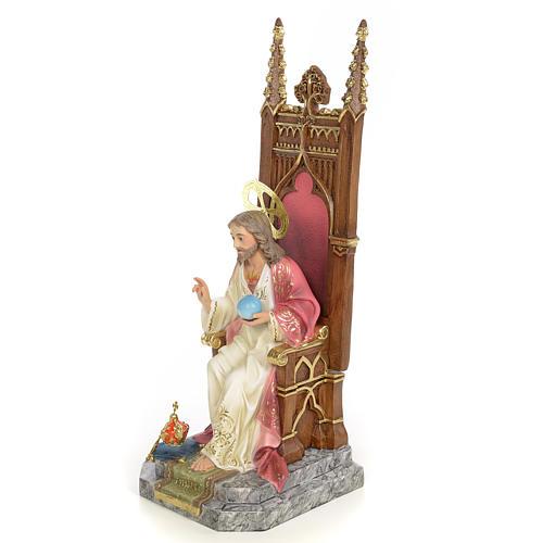 Sacro Cuore di Gesù in trono 30 cm dec. elegante 2