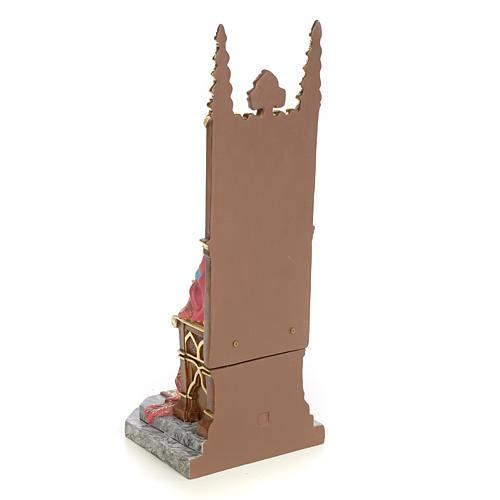 Sacro Cuore di Gesù in trono 30 cm dec. elegante 3