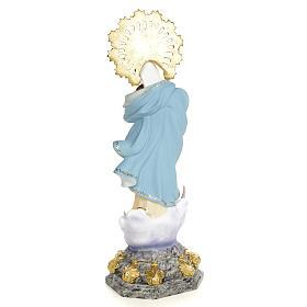 Statue Immaculée 50 cm pâte bois élég s3