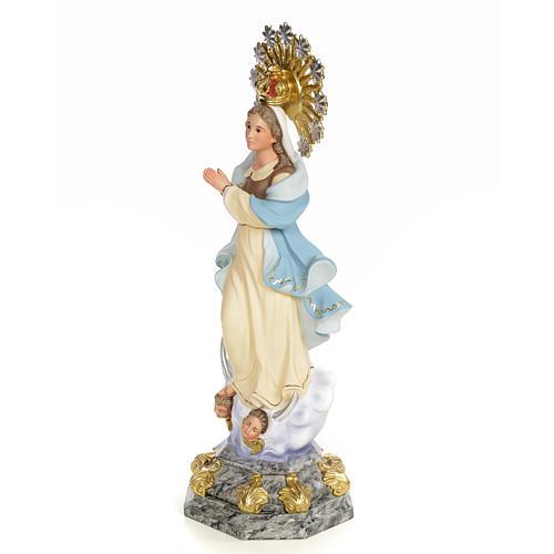 Statue Immaculée 50 cm pâte bois élég 2