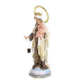Our Lady of Mount Carmel statue 50cm, wood paste, elegant decora s2