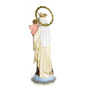 Our Lady of Mount Carmel statue 50cm, wood paste, elegant decora s3