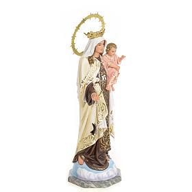 Our Lady of Mount Carmel statue 50cm, wood paste, elegant decora s4