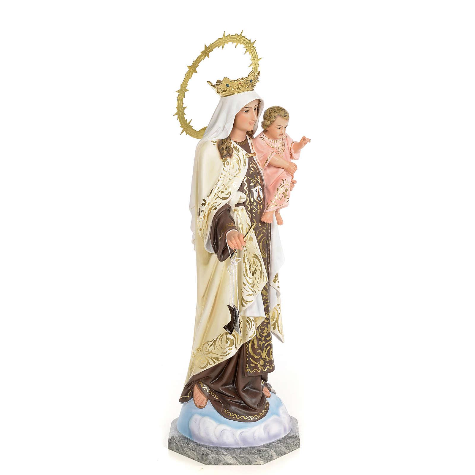 Madonna del Carmelo 50 cm pasta di legno dec. elegante 4