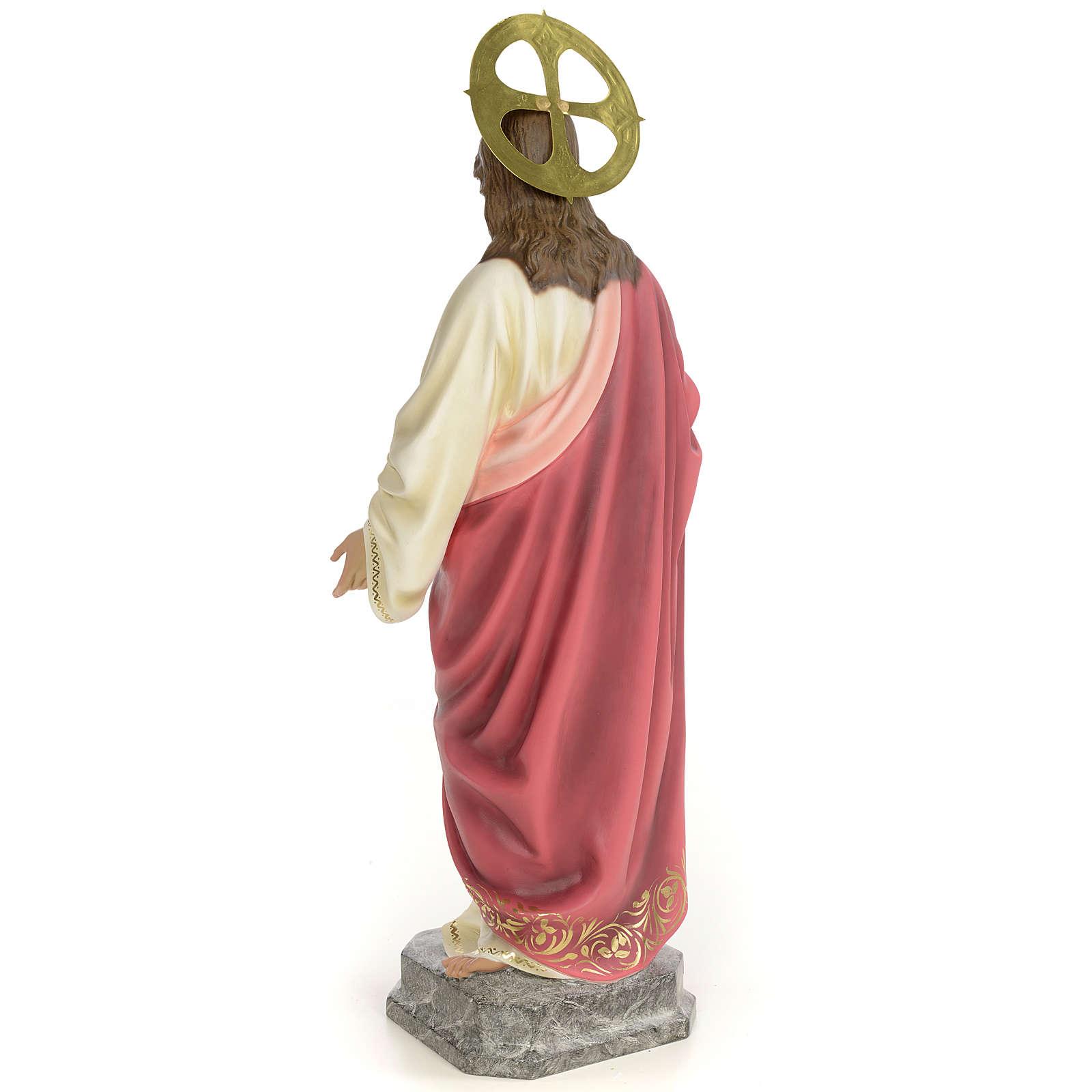 Sacro Cuore di Gesù 60 cm pasta di legno dec. elegante 4