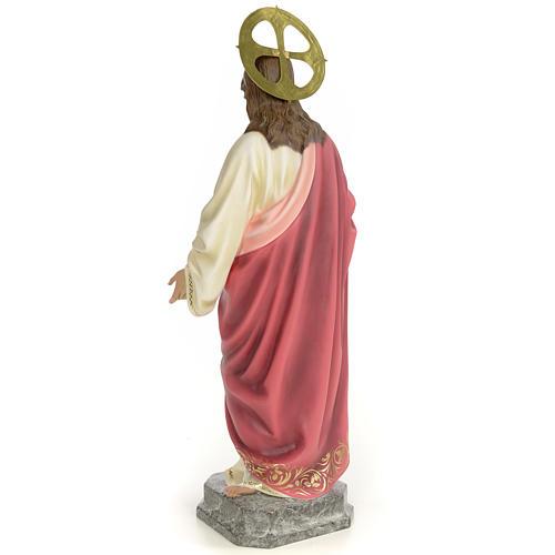 Sacro Cuore di Gesù 60 cm pasta di legno dec. elegante 3