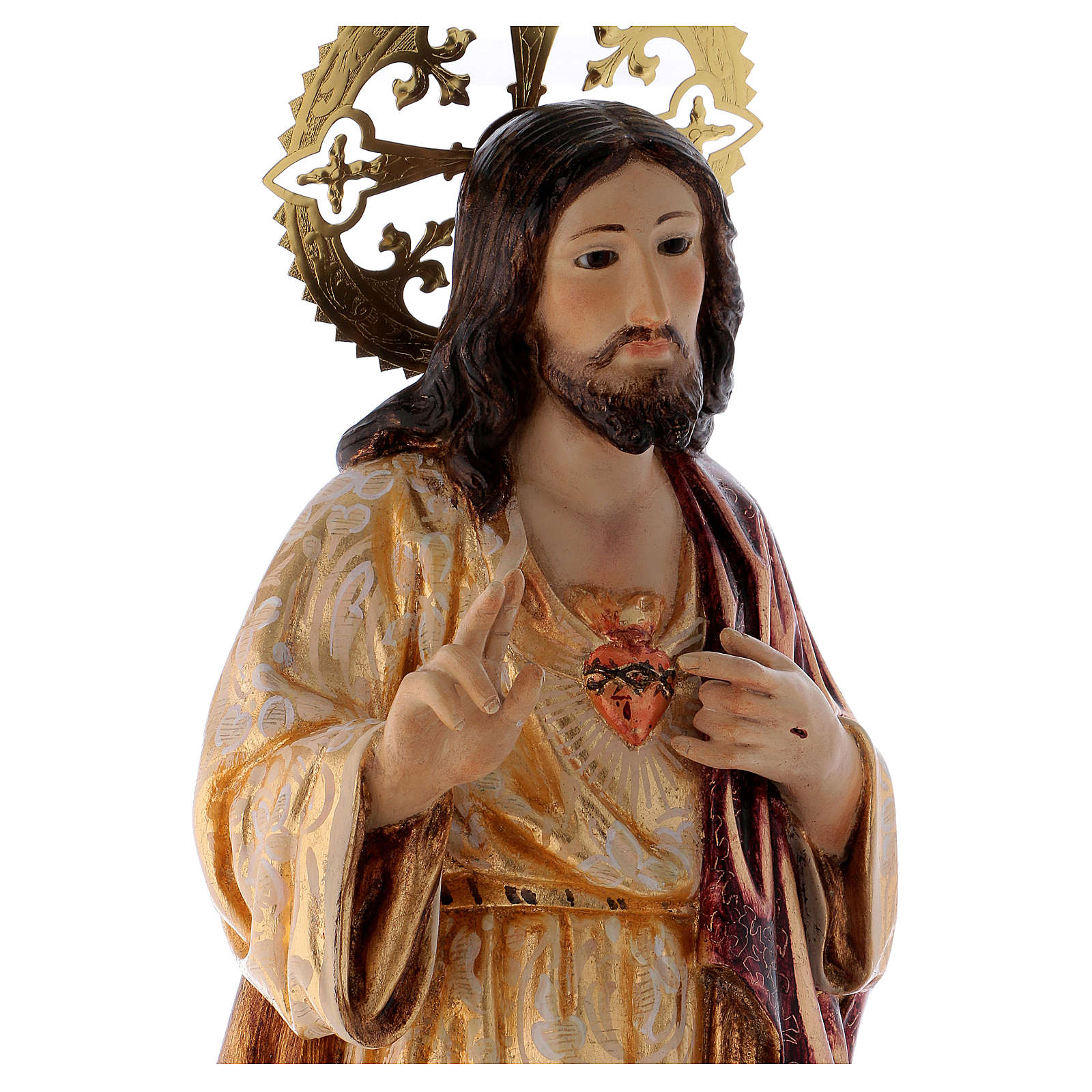 Sacred Heart of Jesus statue 60cm, wood paste, extra decoration 4