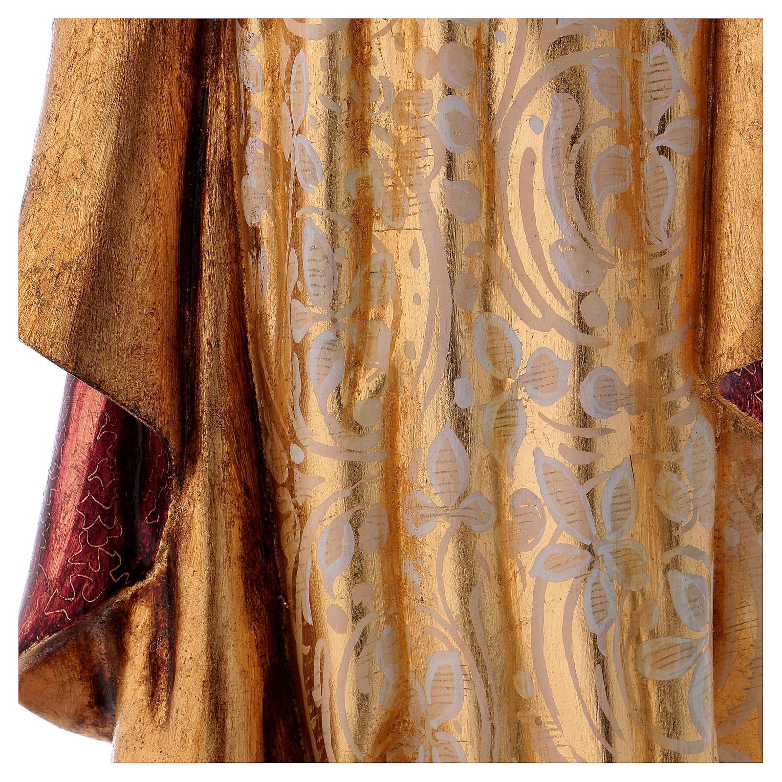 Sagrado Corazón de Jesús 60cm pasta de madera dec. 4
