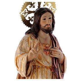 Sagrado Corazón de Jesús 60cm pasta de madera dec. s2