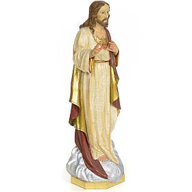 Sacro Cuore di Gesù 60 cm pasta di legno dec. extra s4