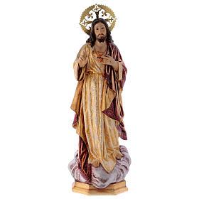 Sacro Cuore di Gesù 60 cm pasta di legno dec. extra s1