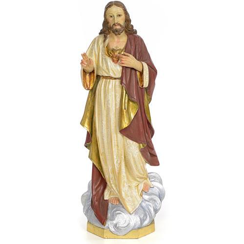 Sacro Cuore di Gesù 60 cm pasta di legno dec. extra 1