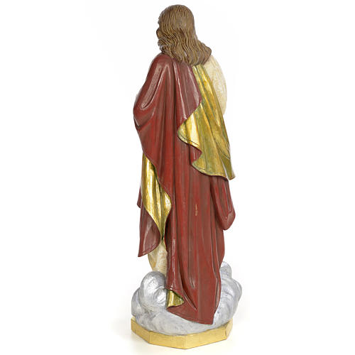 Sacro Cuore di Gesù 60 cm pasta di legno dec. extra 3