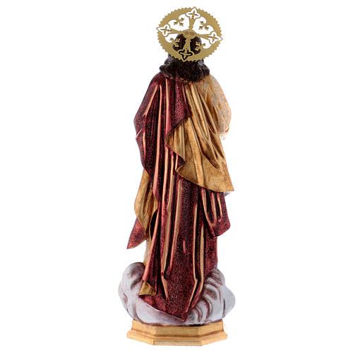 Sacro Cuore di Gesù 60 cm pasta di legno dec. extra 6