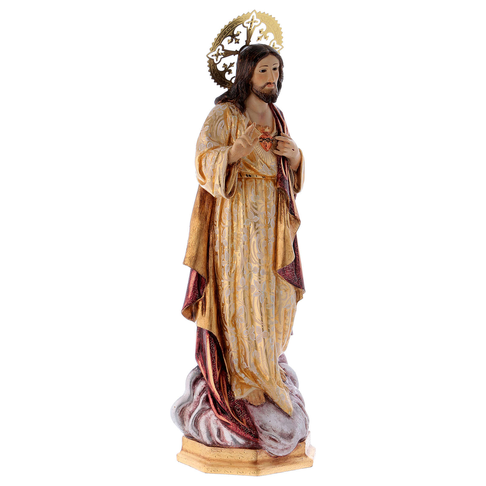 Sagrado Coração de Jesus 60 cm pasta madeira acab. extra 4