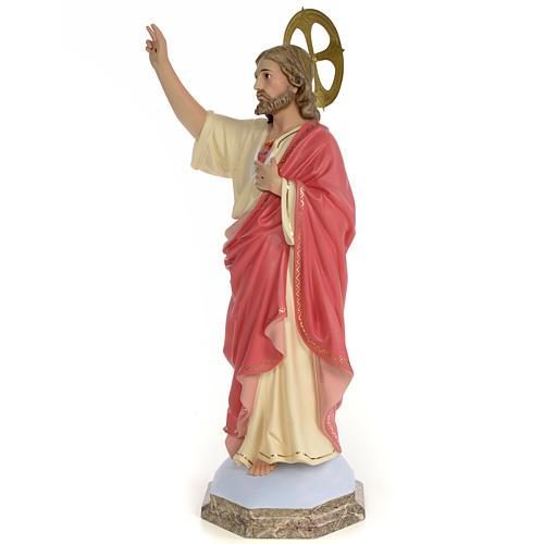 Sagrado Corazón de Jesús 60cm Pasta de madera dec. 2
