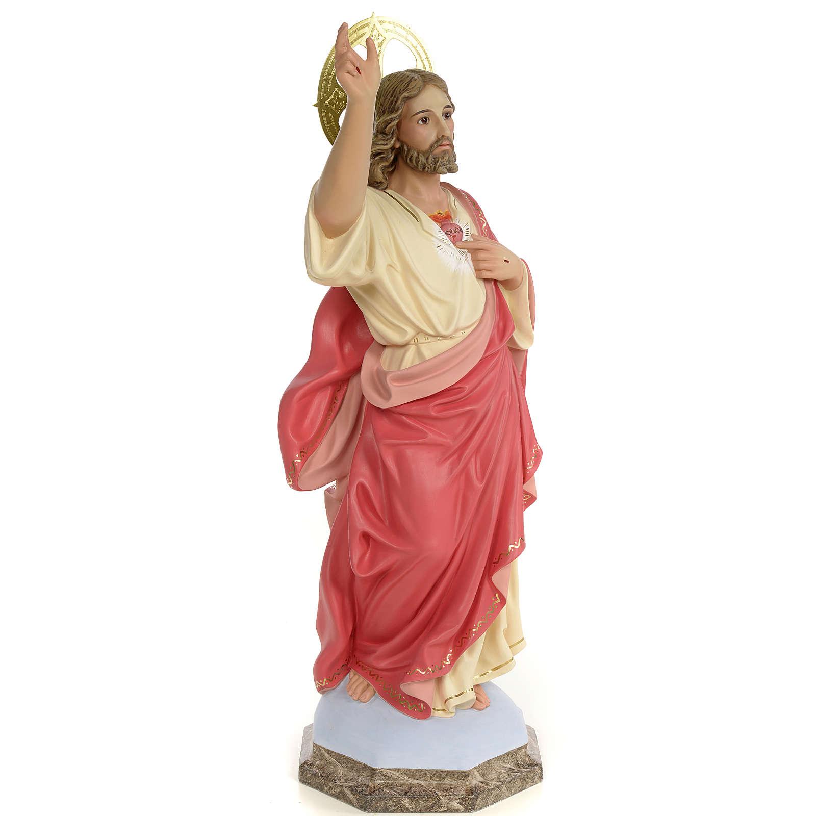 Sagrado Coração de Jesus 60 cm pasta madeira acab. gracioso 4