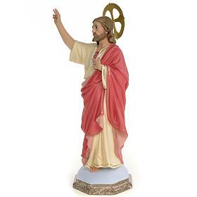 Sagrado Coração de Jesus 60 cm pasta madeira acab. gracioso s2