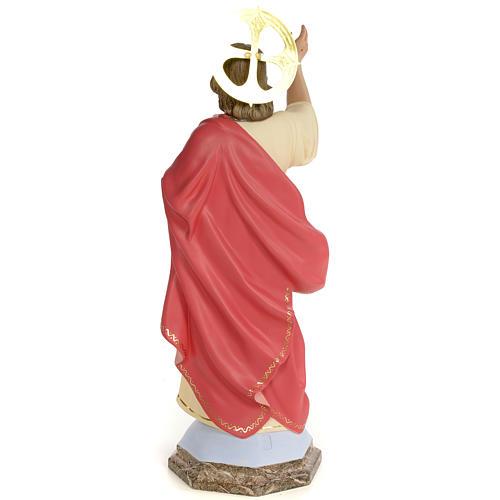 Sagrado Coração de Jesus 60 cm pasta madeira acab. gracioso 3