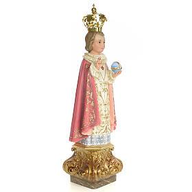 Gesù Bambino di Praga 80 cm pasta di legno dec. elegante s4