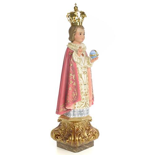 Gesù Bambino di Praga 80 cm pasta di legno dec. elegante 4