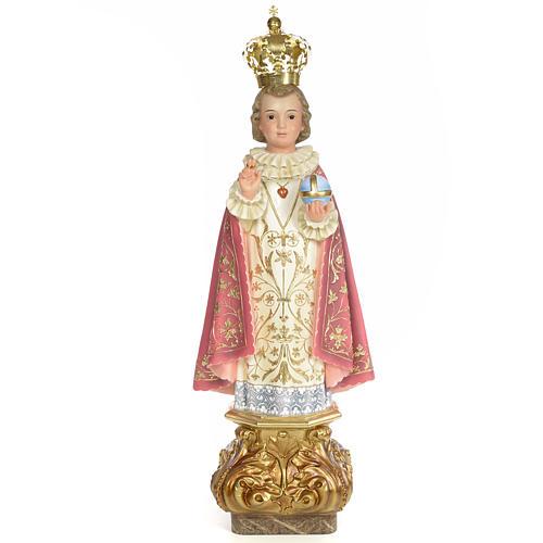 Baby Jesus of Prague statue 60cm, wood paste, elegant decoration 1