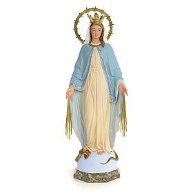 Statues en bois peint: Statue Vierge Miraculeuse 60 cm pâte à bois