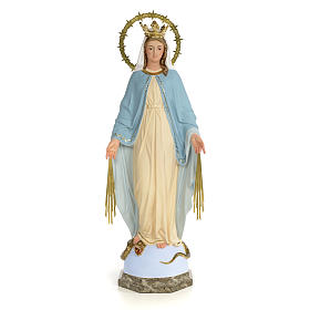 Hand painted wooden statues: Miraculous Virgin statue 60cm, wood paste, fine decoration