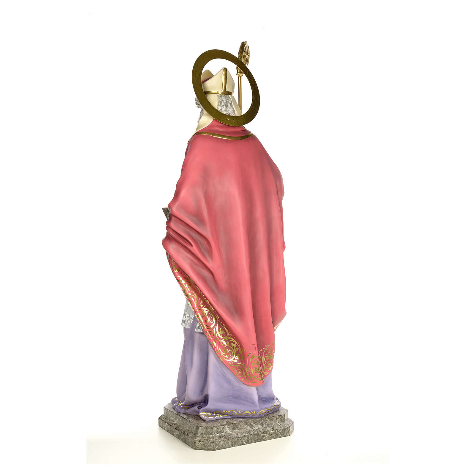 Sant'Agostino 120 cm pasta di legno dec. elegante 4