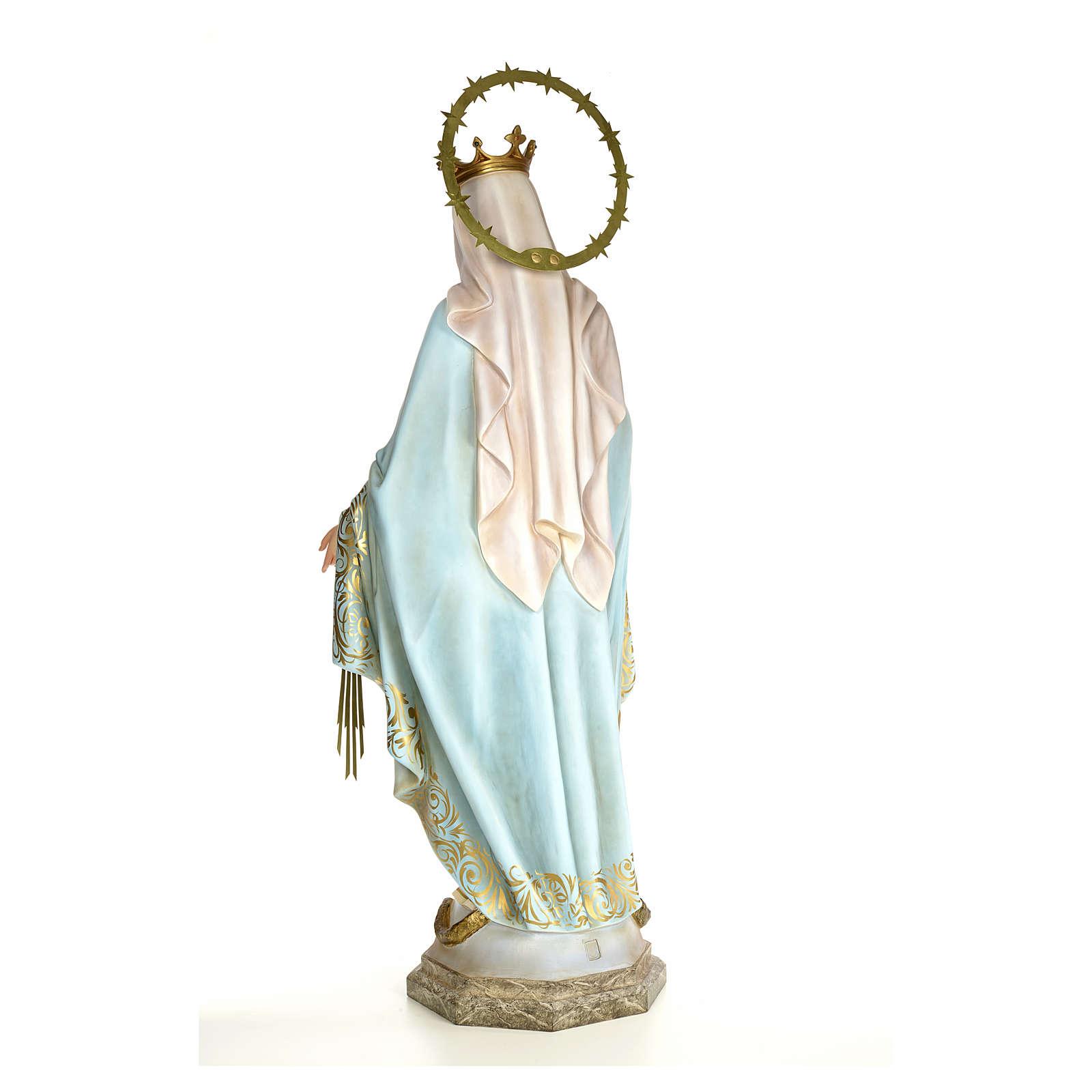 Vergine Miracolosa 120 cm pasta di legno dec. elegante 4