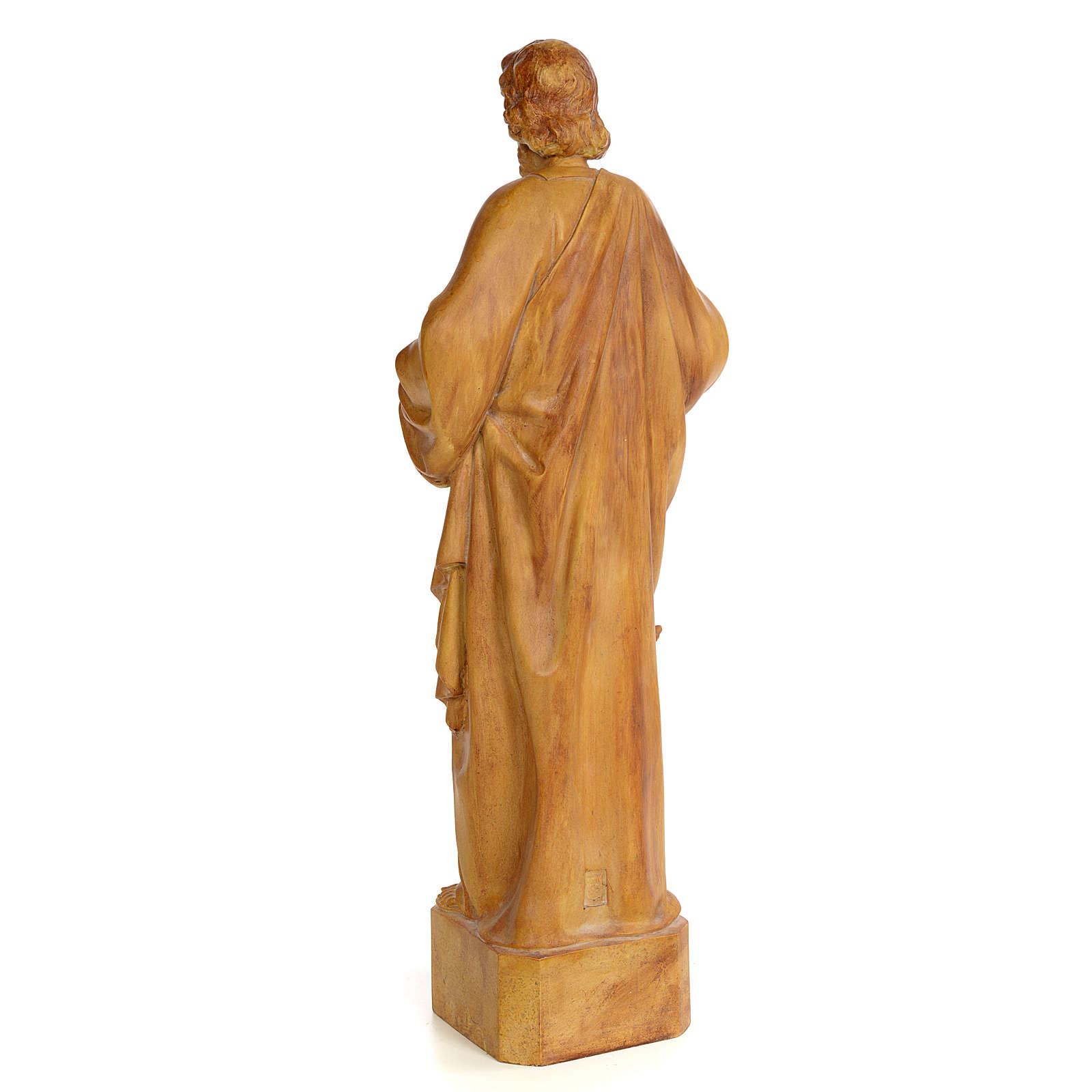 San Matteo 60 cm pasta di legno dec. brunita 4