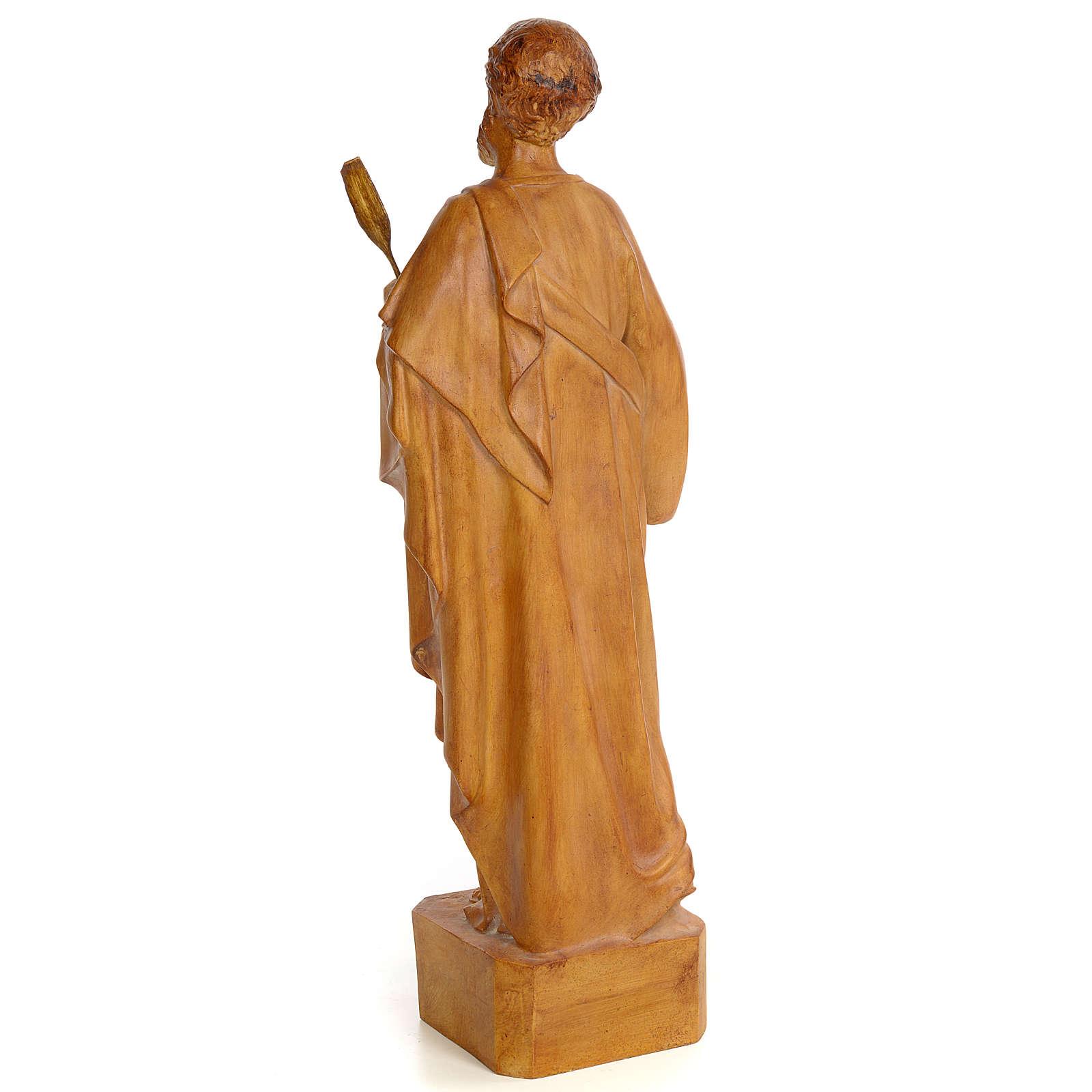 Saint Luke 60cm, wood paste, burnished decoration 4