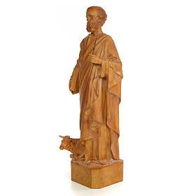 Saint Luke 60cm, wood paste, burnished decoration s2