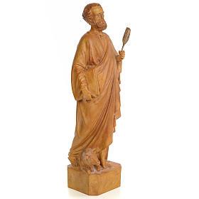 Saint Luke 60cm, wood paste, burnished decoration s4