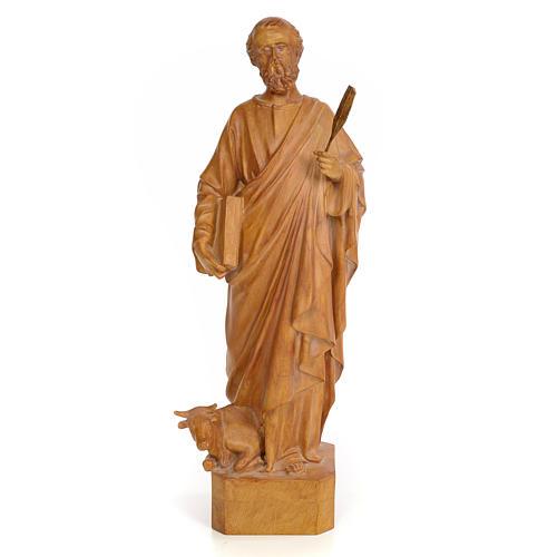 Saint Luke 60cm, wood paste, burnished decoration 1
