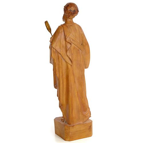 Saint Luke 60cm, wood paste, burnished decoration 3