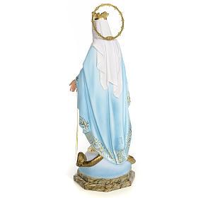 Vergine Miracolosa 50 cm pasta di legno dec. elegante s3