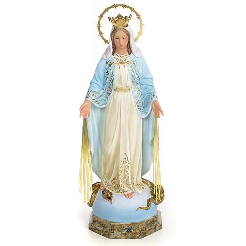 Vergine Miracolosa 50 cm pasta di legno dec. elegante 1