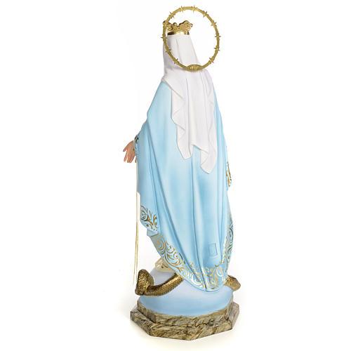Vergine Miracolosa 50 cm pasta di legno dec. elegante 3