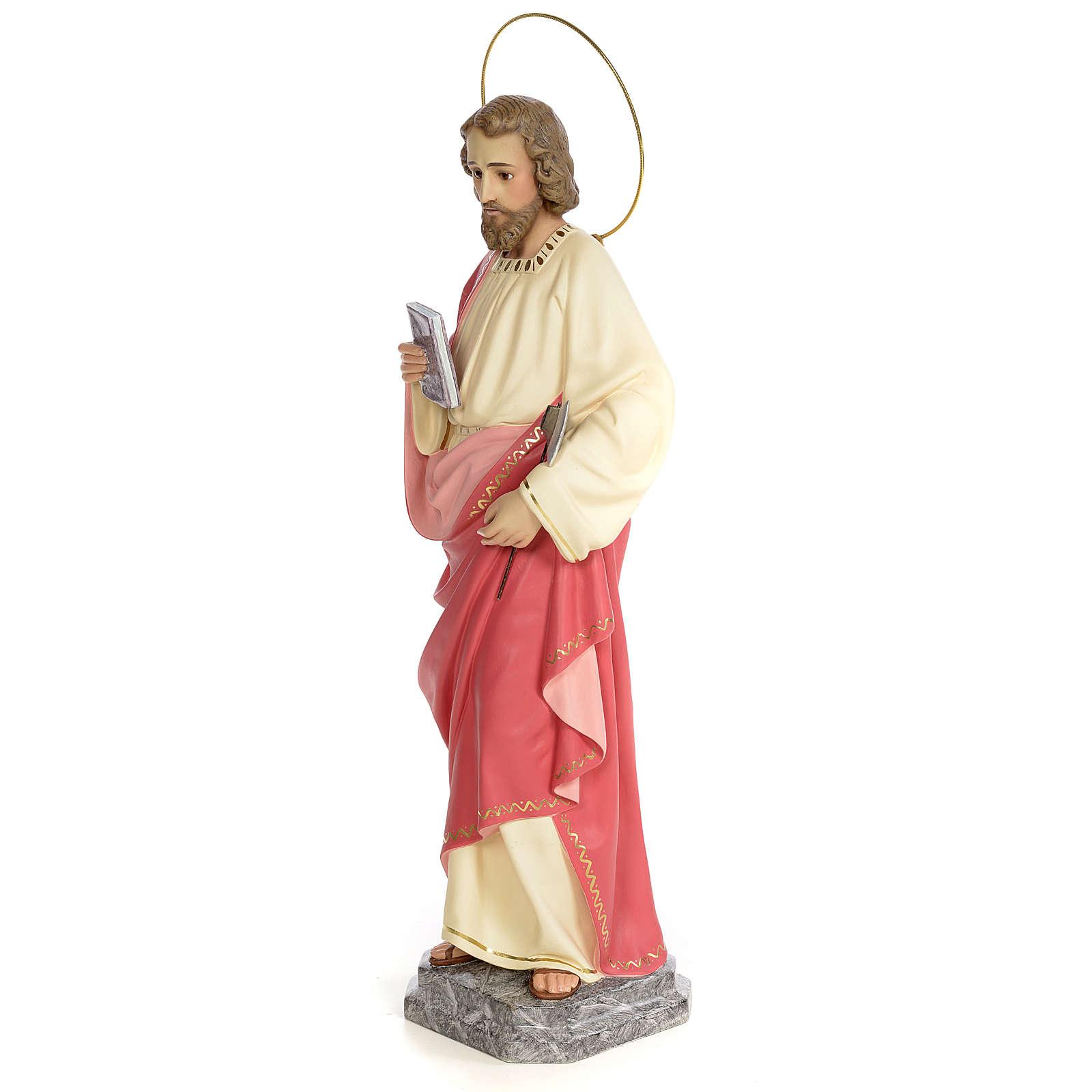 San Giuda Taddeo 60 cm pasta di legno dec. fine 4