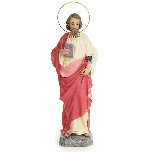 San Giuda Taddeo 60 cm pasta di legno dec. fine 1