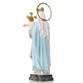 Virgen del Rosario 40cm pasta de madera, acabado elegante s3