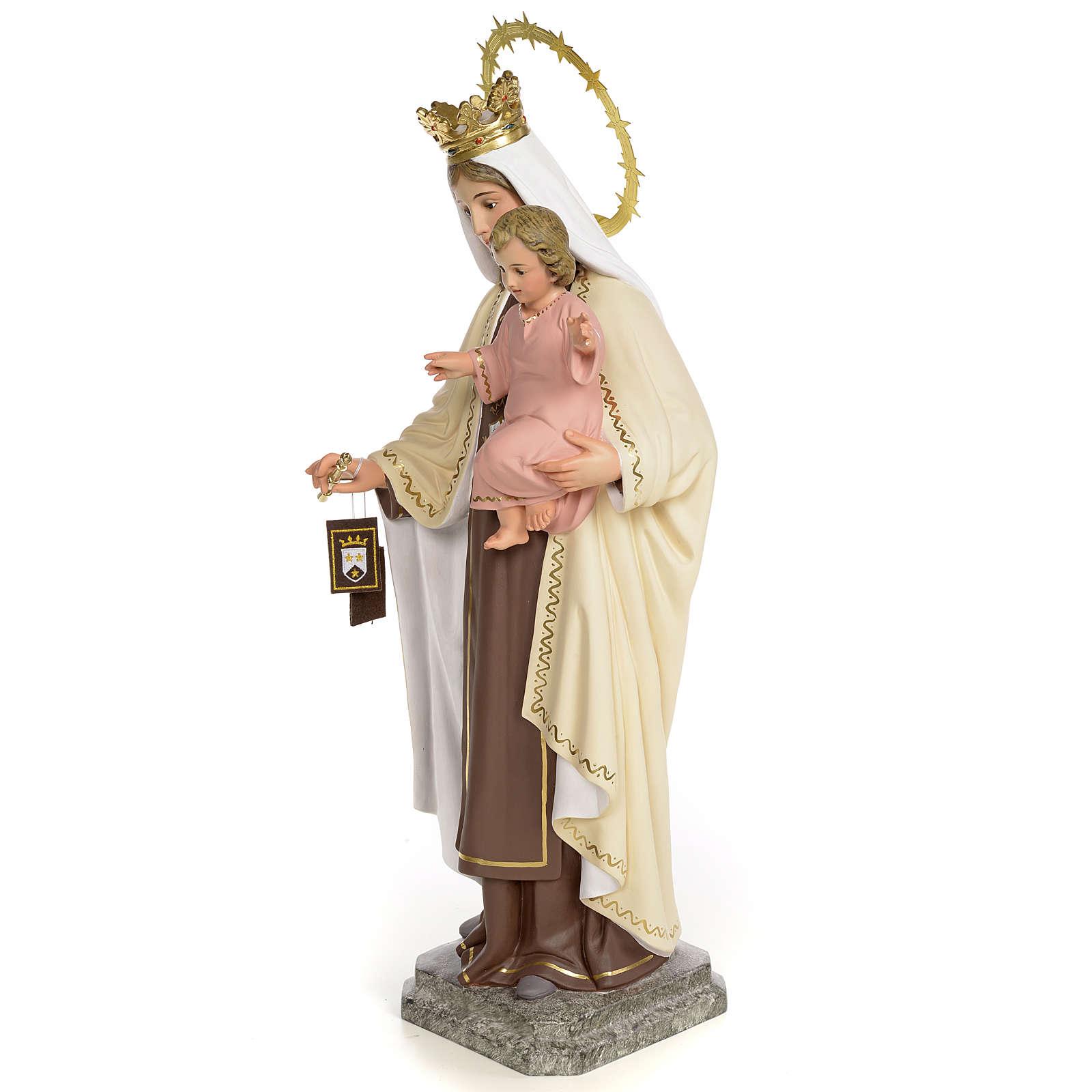Virgin of Mount Carmel 40cm, wood paste, fine decoration 4