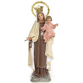 Virgin of Mount Carmel 40cm, wood paste, fine decoration s1