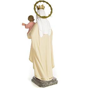 Virgin of Mount Carmel 40cm, wood paste, fine decoration s3